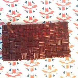 Handbags - Vintage 1940's Plastic Tile Clutch Purse